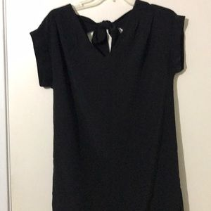 Black silk dress